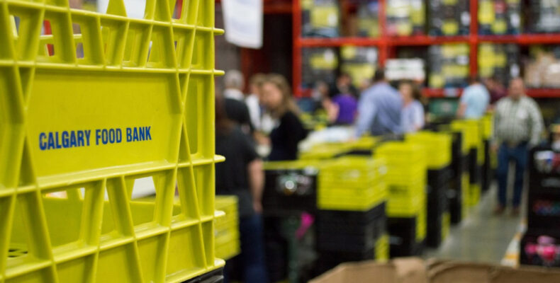 Calgary Food Bank - food sorting warehouse
